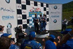 Victory Lane Ryan Truex, Eddie MacDonald, and Jason Holehouse