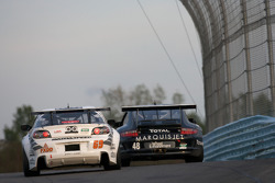 #69 SpeedSource Mazda RX-8: Emil Assentato, Jeff Segal, #48 Miller Barrett Racing Porsche GT3: Bryce Miller, Kevin Roush