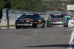 #21 Battery Tender/ MCM Racing Pontiac GTO.R: Diego Alessi, Chris Green, #87 Farnbacher Loles Racing Porsche GT3: Leh Keen, Dirk Werner