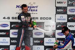Mikhail Aleshin and Julien Jousse on the podium