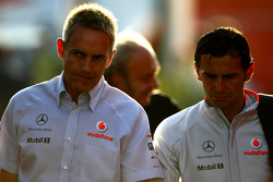 Martin Whitmarsh, McLaren, Chief Executive Officer and Pedro de la Rosa, Test Driver, McLaren Mercedes