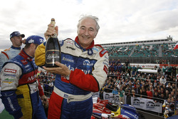 LMP1 podium: Hugues de Chaunac celebrates win