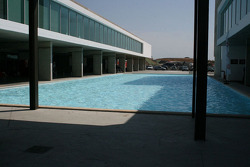 The paddock swimming pool (empty)