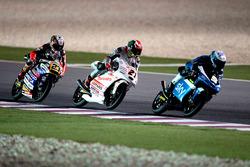 Romano Fenati, SKY Racing Team VR46, KTM; Francesco Bagnaia, Aspar Team Mahindra, Mahindra; Niccolò Antonelli, Ongetta-Rivacold, Honda