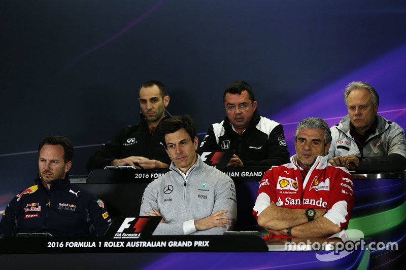Christian Horner, Red Bull Racing Team Principal during the press conference