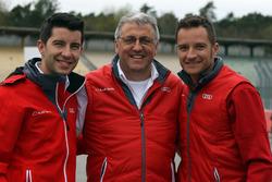 Mike Rockenfeller, Ernst Moser, Timo Scheider, Audi Sport Team Phoenix