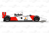 Formula 1 Photos - McLaren MP4-7 driven by Ayrton Senna