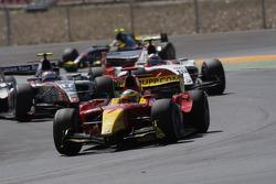Lucas Di Grassi leads Kamui Kobayashi and Nico Hulkenberg