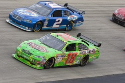 Kyle Busch, Joe Gibbs Racing Toyota and Kurt Busch, Penske Racing Dodge