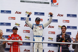 Podium: race winner Max Chilton, second place Riki Christodoulou, third place Daniel Ricciardo