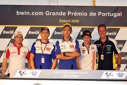Pre-event press conference: Mika Kallio, Pramac Racing, Jorge Lorenzo, Fiat Yamaha Team, Valentino Rossi, Fiat Yamaha Team, Andrea Dovizioso, Repsol Honda Team