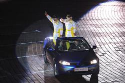 Romain Grosjean, Renault F1 Team and Lucas di Grassi, test driver, Renault F1 Team