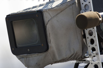 Video cameras are placed around the racetrack