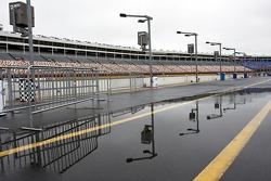 Rain delays activities