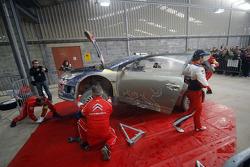 Sébastien Loeb at Citroen Total World Rally Team service area