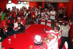 Randy De Puniet in the LCR Honda MotoGP hospitality