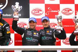 GT1 podium: FIA-GT GT1 champions Michael Bartels and Andrea Bertolini