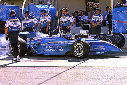 Pit stop for Greg Moore
