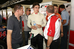 Jason Moore talks with an F2 Engineer