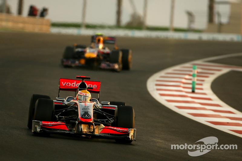 Lewis Hamilton, McLaren Mercedes and Sebastian Vettel
