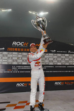 Podium: Race of Champions winner Mattias Ekstrm