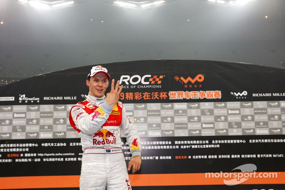 Podium: Race of Champions winner Mattias Ekström