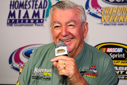 NASCAR championship contenders press conference in Coral Gables: NASCAR legend Bobby Allison speaks to the media