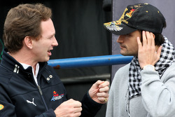 Christian Horner, Red Bull Racing, Sporting Director, Vitantonio Liuzzi, Force India F1 Team