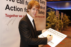 F1 driver Sebastian Vettel adds his name to call for a Decade of Action for Road Safety campaign