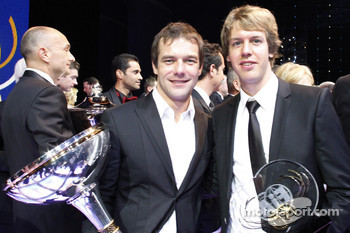 Sébastien Loeb with Sebastian Vettel, Red Bull Racing