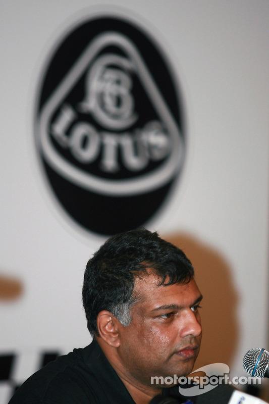 Lotus F1 Team Principal, Tony Fernandez