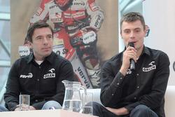 Orlen Team presentation: Marek Dabrowski and Jakub Przygonski on stage