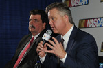 NASCAR leaders Brian France and Mike Helton answer questions from the media