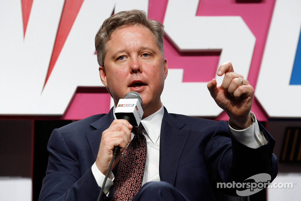 NASCAR Chairman and CEO Brian France addresses the 2010 NASCAR Sprint Media Tour audience