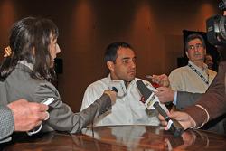 Juan Pablo Montoya meets with reporters