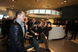 Michael Schumacher heads to the presentation