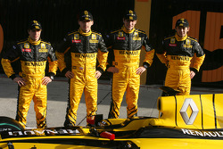 Jerome D'Ambrosio, Test Driver, Renault F1 Team, Robert Kubica, Renault F1 Team; Vitaly Petrov, Renault F1 Team and Ho-Pin Tung, Test Driver, Renault F1 Team
