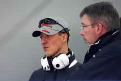 Michael Schumacher, Mercedes GP, Ross Brawn Team Principal, Mercedes GP