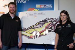 JR Motorsports press conference: Dale Earnhardt Jr. and Danica Patrick with the 'Danicar'