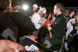 Kasey Kahne, Richard Petty Motorsports Ford signs autographs