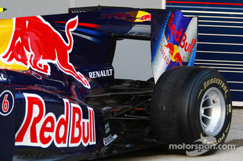 The new Red Bull RB6, rear wing and suspension