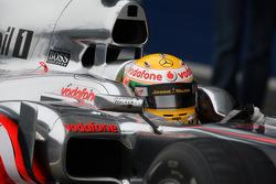 Lewis Hamilton, McLaren Mercedes, MP4-25, air intake, detail
