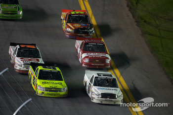 Nelson A. Piquet and Matt Crafton battle