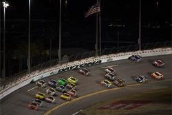 Jamie McMurray, Earnhardt Ganassi Racing Chevrolet leads Dale Earnhardt Jr., Hendrick Motorsports Chevrolet to the checkered flag