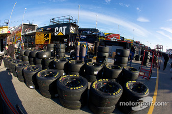 Goodyear tires and wheels in the garage area