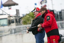 Jaime McMurray participates in the Fourth Annual Hot Rods and Reels fishing Tournament hosted by Darrell Gwynn on Lake Lloyd at Daytona International Speedway