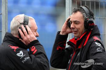 John Booth, Virgin Racing Sporting Director, Nick Wirth, Technical Director, Virgin Racing