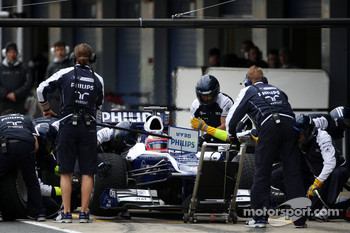 Rubens Barrichello, Williams F1 Team, practice pitstops