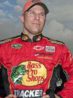 Jamie McMurray, Earnhardt Ganassi Racing Chevrolet after setting the fastest time