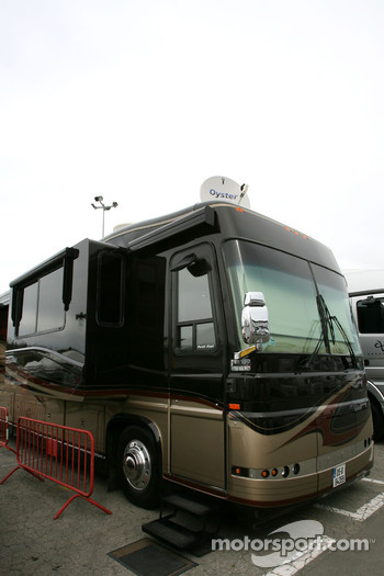 Motorhome of Jenson Button, McLaren Mercedes